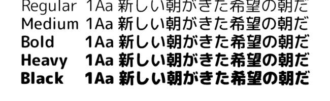 無料日本語フォント自家製 Rounded M+