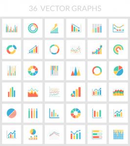 グラフやチャートのベクターアイコン