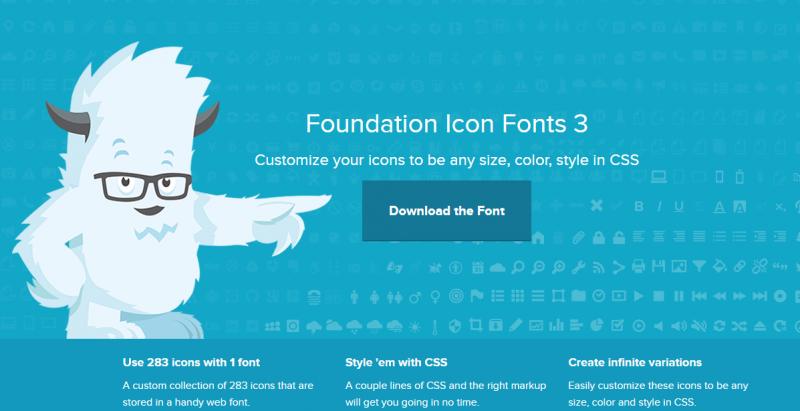 Foundation Icon Fonts 3