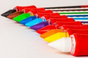 色鉛筆、マーカー