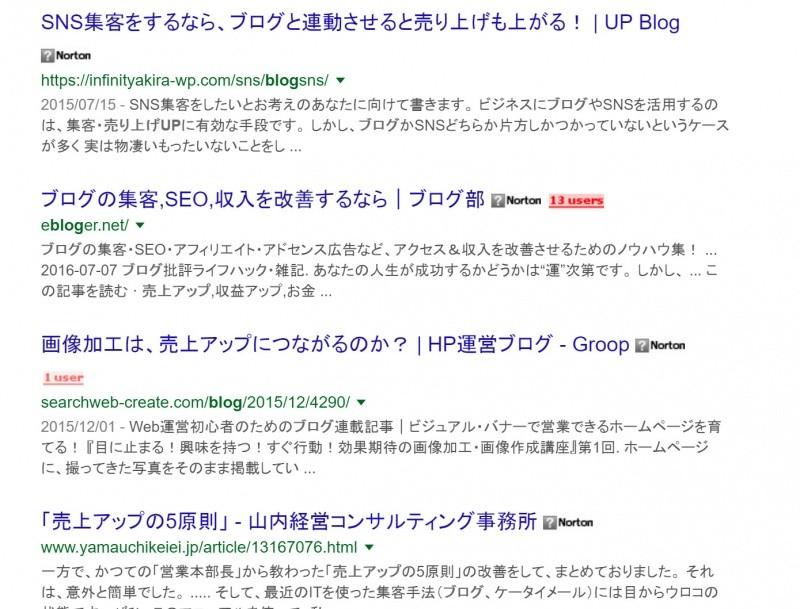検索時のブックマーク数表示