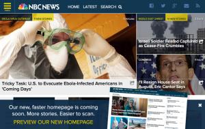 NBC NEWSサイトのメニュー実装例
