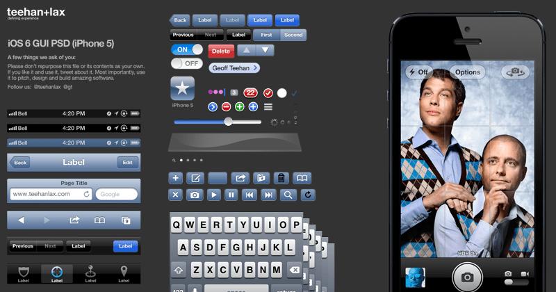 iOS 8 GUI PSD (iPhone 6)