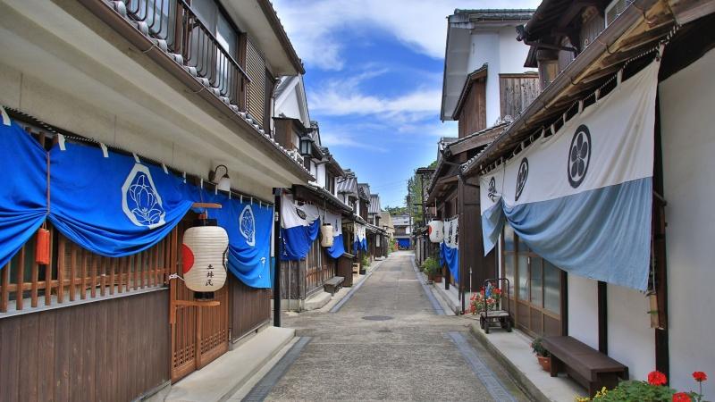 広島県 豊町御手洗のまち並み