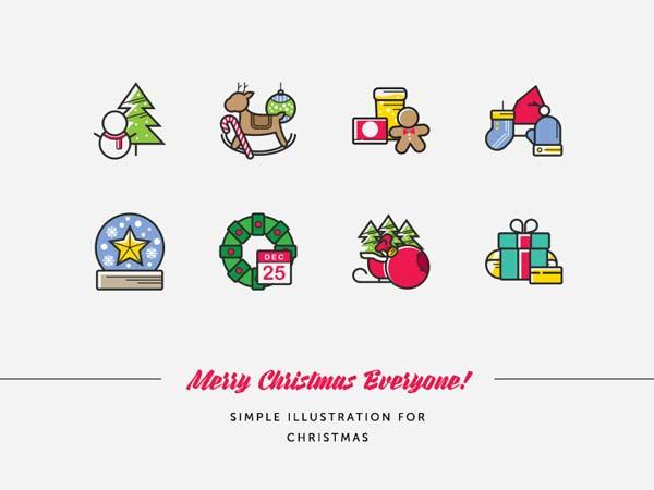 ユニークでかわいいクリスマスアイコン