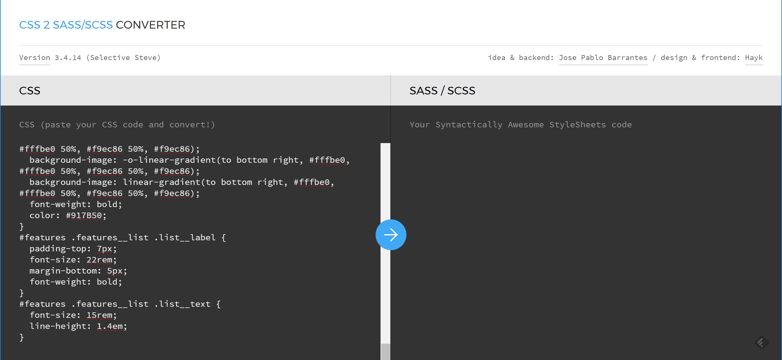 CSS SASS 変換