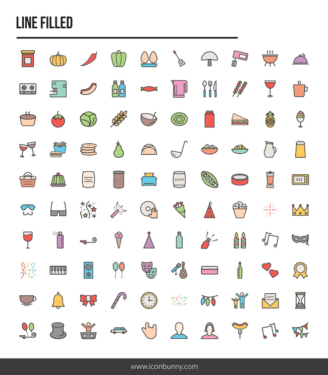 Iconbunny-Food-and-Party-Iconset-Preview-II