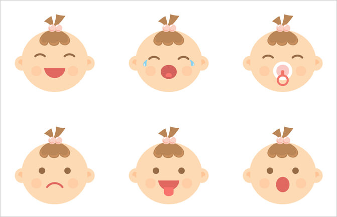 baby-facial-expression-icons