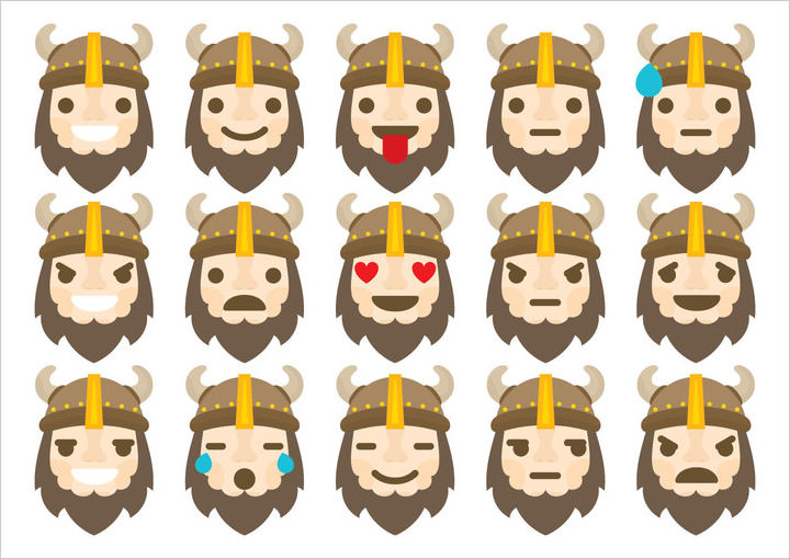 barbarian-emoticons-vector